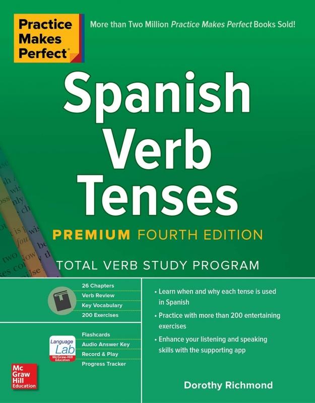 کتاب اسپانیایی Practice Makes Perfect  Spanish Verb Tenses