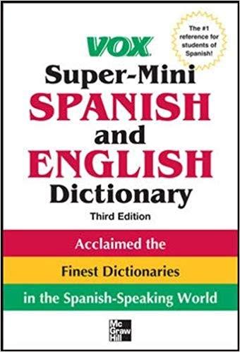 کتاب اسپانیایی Vox Super Mini Spanish and English Dictionary
