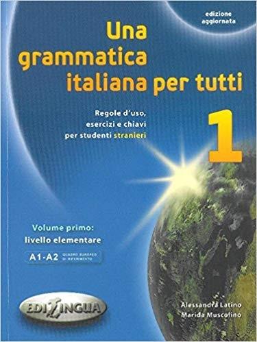 کتاب ایتالیایی  Una grammatica italiana per tutti  Una grammatica italiana per tutti 1 (edizione