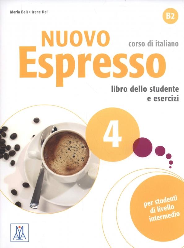 کتاب ایتالیایی نوو اسپرسو چهار Nuovo Espresso 4 Libro Studente B2 +DVD