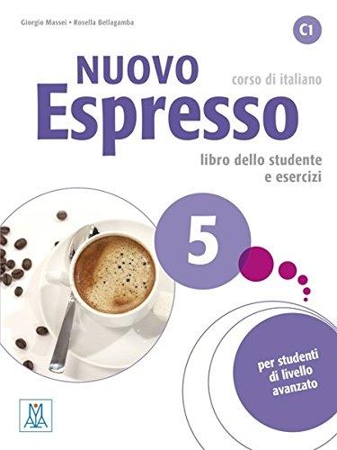 کتاب ایتالیایی نوو اسپرسو پنج Nuovo Espresso 5 Libro Studente C1 +DVD
