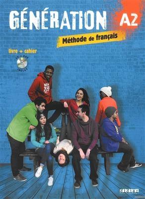 کتاب فرانسه Generation 2 niv A2 - Livre + Cahier + CD mp3 + DVD