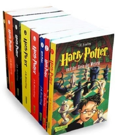 پکیج 8 جلدی رمان های هری پاتر آلمانی Harry Potter German Edition