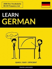 کتاب آلمانی Learn German - Quick / Efficient / Simple: 2000 Key Vocabularies