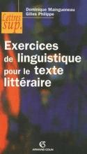 کتاب فرانسه  Exercices de linguistique pour le texte litteraire