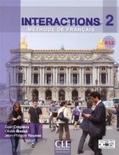 کتاب فرانسه  Interactions 2 - Niveau A1.2 - Livre de l'élève + DVD Rom