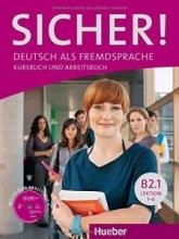 خرید کتاب آلمانی زیشر B2 درس 1 تا 6  Sicher B2 1 LEKTION 1-6 KURSBUCH UND ARBEITSBUCH + CD