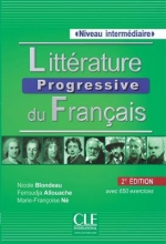 کتاب فرانسه  Litterature progressive du français - intermediaire + CD - 2eme edition
