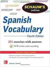 کتاب اسپانیایی Schaum's Outline of Spanish Vocabulary 4th Edition