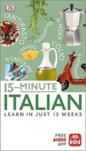 کتاب ایتالیایی 15-Minute Italian   Learn In Just 12 Weeks