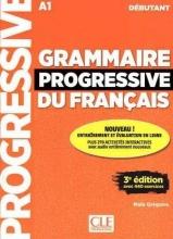 کتاب گرامر پروگرسیو فرانسه Grammaire Progressive Du Francais A1 - Debutant - 3rd +Corriges+CDS