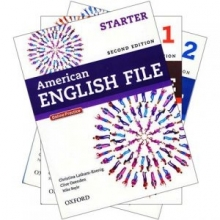 پکیج 3 جلد اول کتابهای امریکن انگلیش فایل ویرایش دوم American English File 2nd Edition رحلی