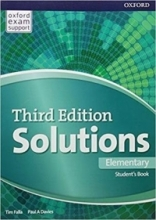 خرید کتاب سولوشنز المنتری ویرایش سوم Solutions Elementary 3rd Edition