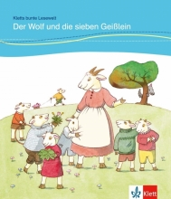 خرید کتاب DER WOLF UND DIE SIEBEN GEISSLEIN داستان آلمانی کودکان رنگی