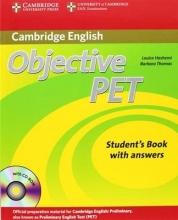خرید کتاب زبان Objective PET (2nd) S.B+W.B+For school+2CDs سیاه و سفید