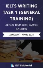خرید کتاب آیلتس اکچوال تست رایتینگ جنرال تسک 1 ژانویه تا آپریل ۲۰۲۱ (IELTS Writing Task 1 General Training Actual Test with Sa