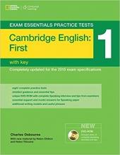 خرید کتاب اگزم اسنشیالز پرکتیس تستز فرست Exam Essentials Practice Tests First (FCE) 1+DVD