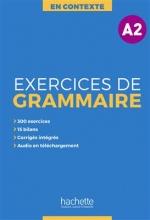 کتاب فرانسوی En Contexte - Exercices de grammaire A2 + CD + corrigés