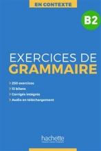 کتاب فرانسوی En Contexte - Exercices de grammaire B2 + CD + corrigés