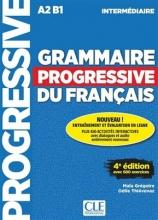 کتاب فرانسه Grammaire progressive intermediaire 4eme + CD