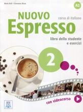 کتاب ایتالیایی نوو اسپرسو دو Nuovo Espresso 2 Libro Studente A2 +DVD