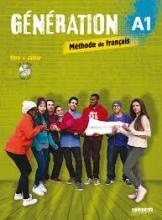 کتاب فرانسه Generation 1 niv A1 - Livre + Cahier + CD mp3 + DVD