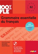 کتاب فرانسه Grammaire essentielle du français niv B2 - Livre + CD 100% FLE